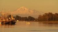 Mount Baker from Steveston Harbor Stock Footage