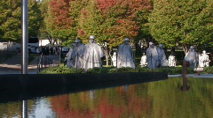Washington, DC: Korean War Memorial Stock Footage