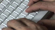 Stock Video Footage of Typing
