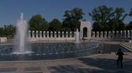 World War 2 Memorial Waterfall Stock Footage