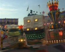 Amusement ride. Parish fair in Germany Stock Footage