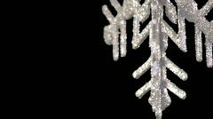 Pre-keyed Large snowflake ornament Stock Footage