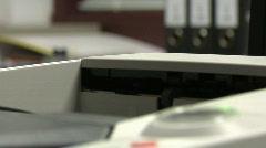 Desktop laser printer detail - stock footage