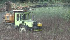 Crop sprayer on bean crop. Stock Footage
