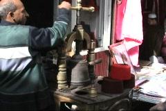Egypt Man Making Fez Hat Stock Footage