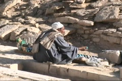 Egypt Man Selling Wares - stock footage