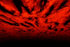 VJ Loop 116 : 3D Flying - Red Hell 2 - stock footage