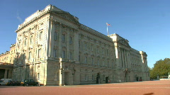 Buckingham Palace in London England. - stock footage