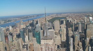 Empire state building aerial view part IV Stock Footage