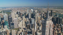 Empire state building aerial view part III Stock Footage