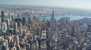 Empire state building aerial view part I Stock Footage