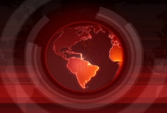 Red Rotating Globe 2 - stock footage