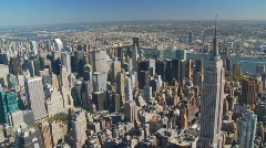 empire state building aerial view part II - stock footage