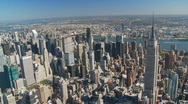Empire state building aerial view part II Stock Footage
