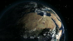 HD1080p Rotating Earth 3D Animation (24h Loop) Stock Footage