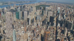 Heli flight around empire state building part I Stock Footage