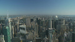 pan shot over skyscrapers  - stock footage