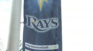 Stock Video Footage of Tampa Bay Rays Banner 02