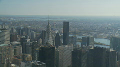 Nice day from empire state pan shot part II Stock Footage