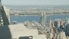nice day from empire state pan shot part I - stock footage