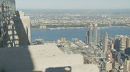 Stock Video Footage of nice day from empire state pan shot part I