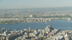 Pan shot new york from empire state part II Stock Footage