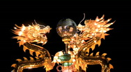 Dragons Encircling Pearl at Chinese Lantern Festival Stock Footage