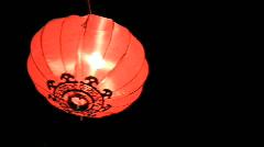 Chinese lantern celebrating chinese new year Stock Footage