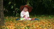 The baby model 1 Stock Footage