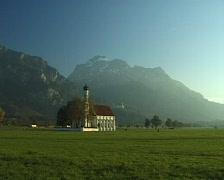 Colomanskirche in Schwangau/Bavaria Stock Footage