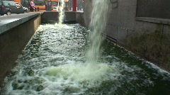 HD Cascade in Cadorna station in Milan, Italy Stock Footage
