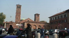 HD- SANT'AMBROGIO CHURCH IN MILAN (MILAN - ITALY) Stock Footage