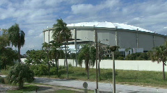 The Tropicana Dome In St Petersburg 01 Stock Footage