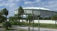 Stock Video Footage of The Tropicana Dome In St Petersburg 01