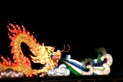 Fire breathing dragon during chinese lantern festival  Stock Footage