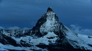 Stock Video Footage of Time-lapse of the Matterhorn at sunrise