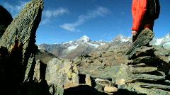 Swiss mountain landscape Stock Footage
