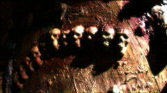 skulls flashing 1 released HD - stock footage