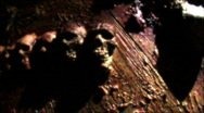 Stock Video Footage of skulls flashing 1 released HD