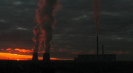 Thermal station. Sunrise. 1-2 time-lapse series Stock Footage