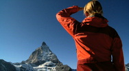 Stock Video Footage of Woman in the mountains, Switzerland