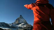 Matterhorn peak in Switzerland Stock Footage