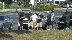 Baseball Fans & TV News Stock Footage
