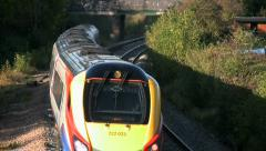 East Midlands Trains passenger train in Leicestershire England. Stock Footage