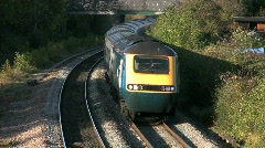 Express high speed diesel train HST in Leicestershire England. - stock footage