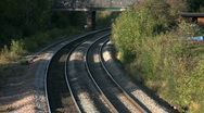 Express high speed diesel train HST in Leicestershire England. Stock Footage