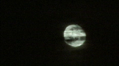 Fast Pace Moon Stock Footage