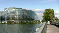 European Parliament in Strasbourg Stock Footage