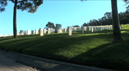 Military Cemetery Stock Footage