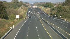 Rural highway traffic. Stock Footage